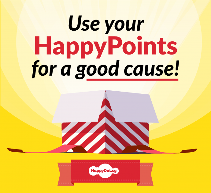 use your happy points for a good cause