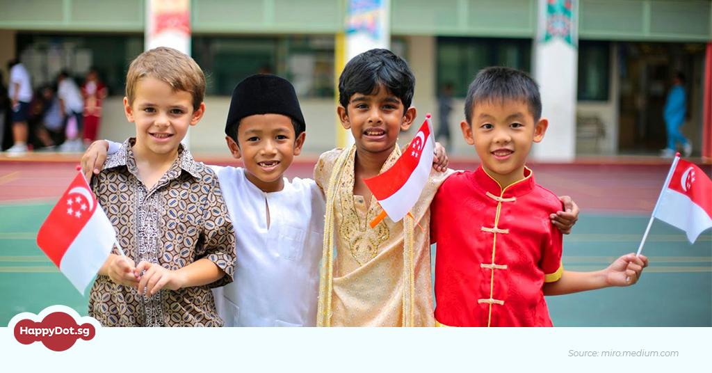 multi racial children harmony day singapore